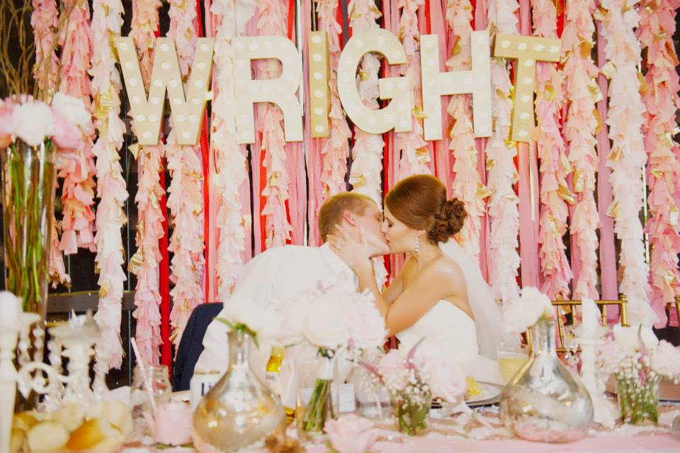 Melissa McCrotty Photography .  Emily + Casey 's glitzy and glamorous Aztec-inspired wedding pretty much blew up the Internet. And well, I'm sure you can see why! The details at this wedding were super fun and GORGEOUS.We're gonna be obsessed with this one forever.