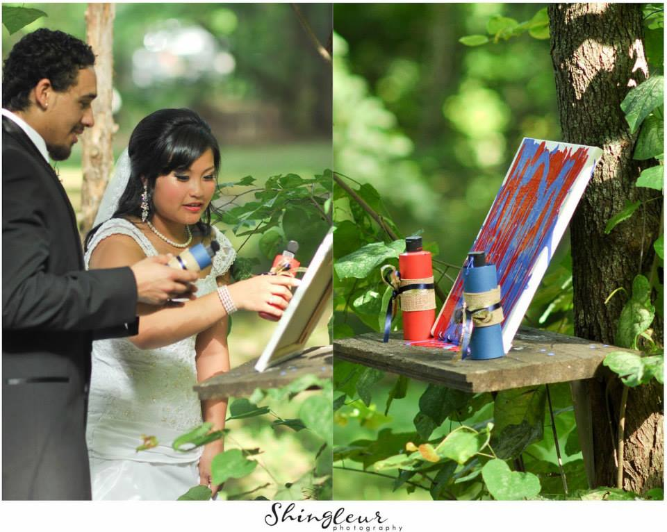 Shingleur Photography , from  Tang + DJ 's red, white & blue wedding at The Barn.