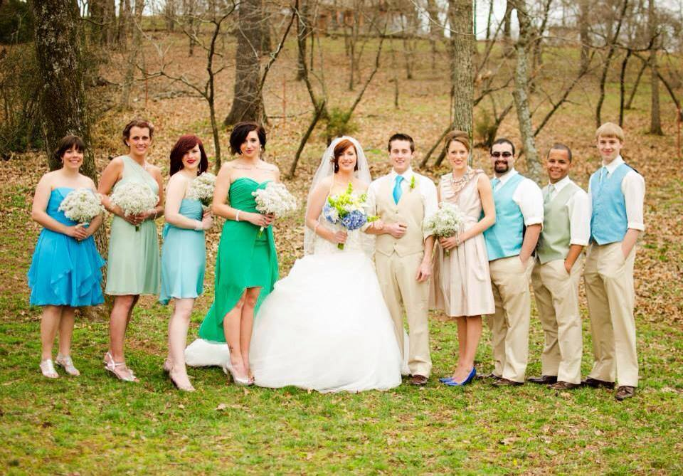 J. Millwood Photography , from  Kaleena + Spencer 's gorgeous green & blue wedding.