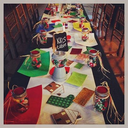 From our  Instagram . One of our kid's tables from a Christmas party at The Barn... so fun!
