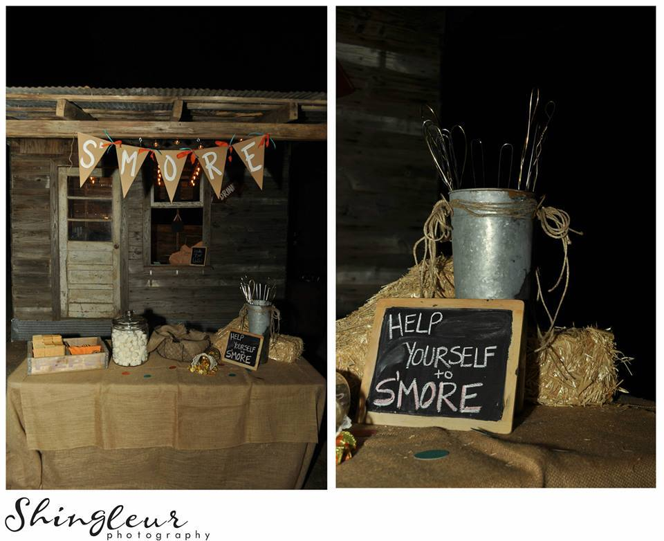 Shingleur Photography .  Lindsy + Keith 's s'mores bar was cute and super delish!
