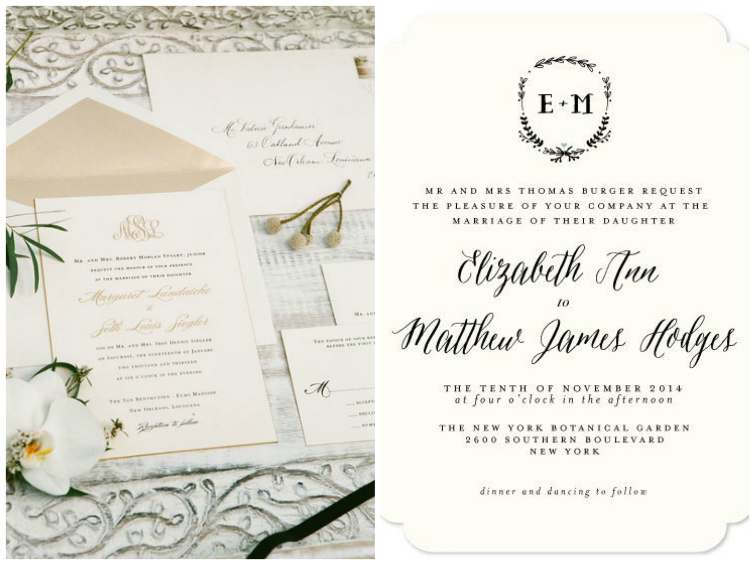 Southern Weddings ;  Minted