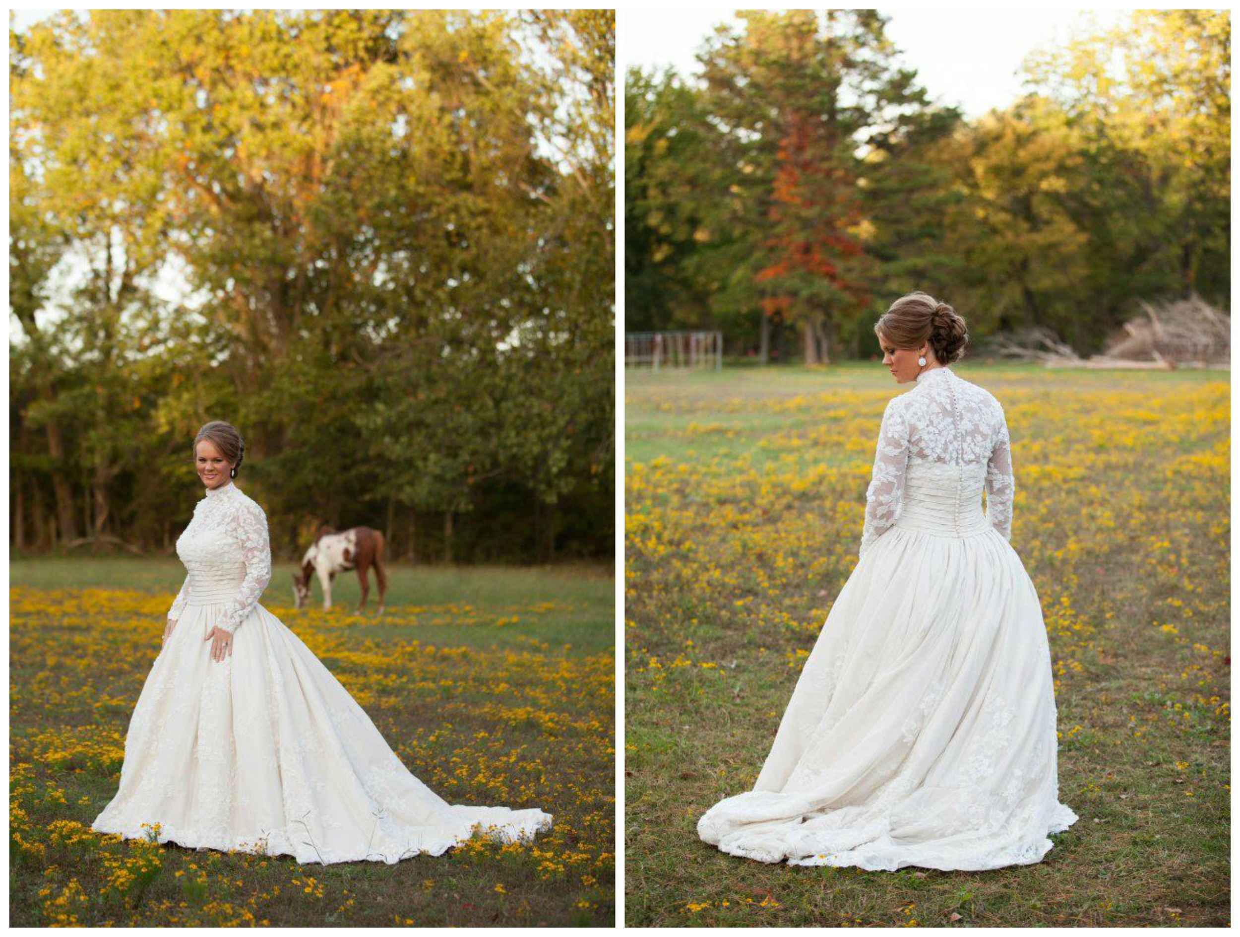 JRowe Photography . Y'all, we  still  haven't stopped talking about Jana's dress. Her bridals were amaaaazing! They were taken in the fall, and they were so so so good. LOVE. You can see more of them  here  and read her wedding blog post  here .