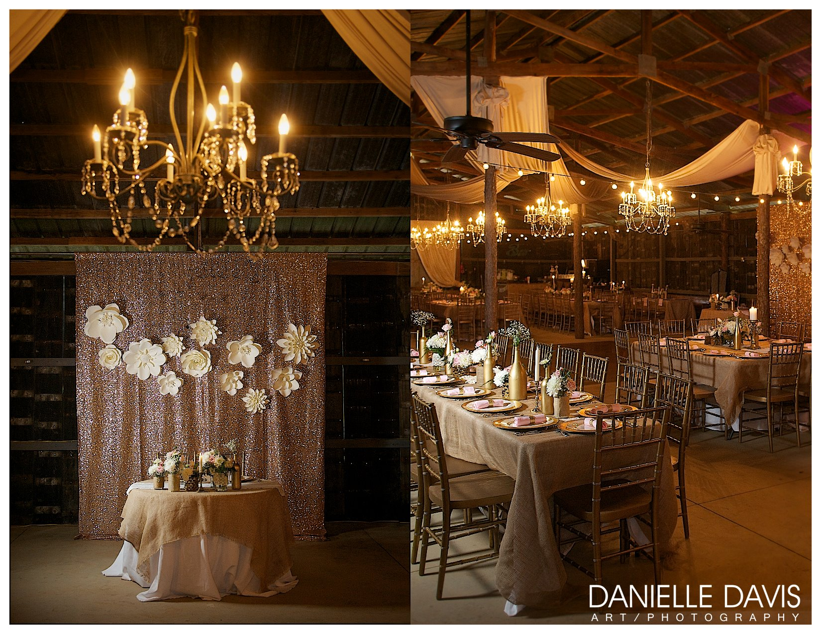 Danielle Davis Art/Photography  , from   Ashton + Mickey  's wedding at The Barn