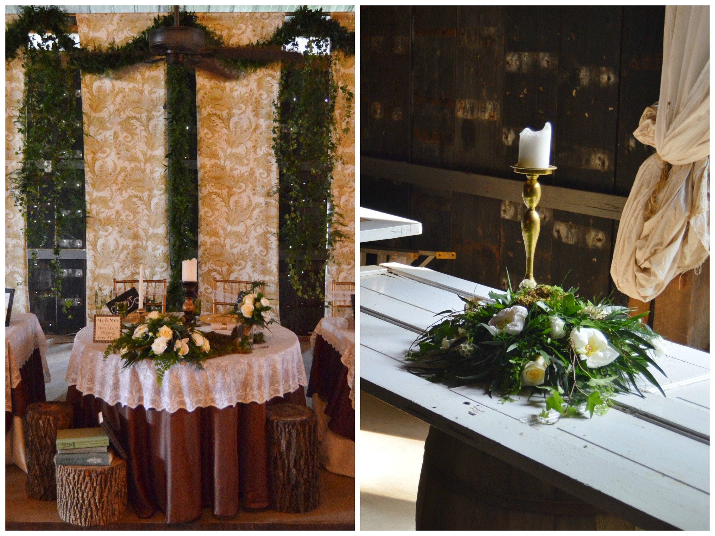 The table on the right was a memory table for Kelsey's father. It was beautiful!