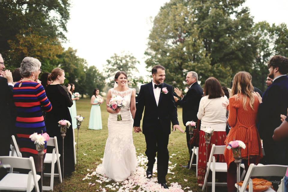 Stephanie Parsley Photography , from  Jessica + Daniel 's wedding. Jessica's dress was timeless, classic and elegant. It doesn't get much better than this one!