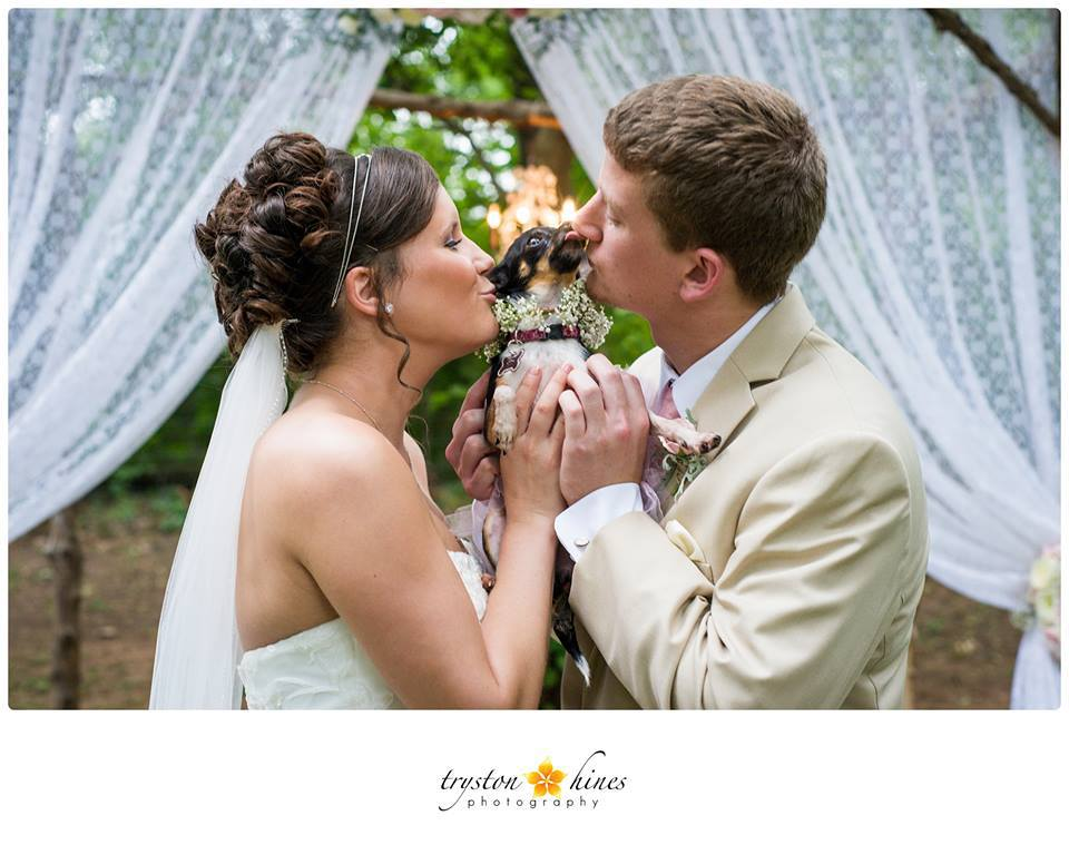 Tryston Hines Photography . Megpie was happy to be a part of her parents,  Megan + Jonathan's wedding day!