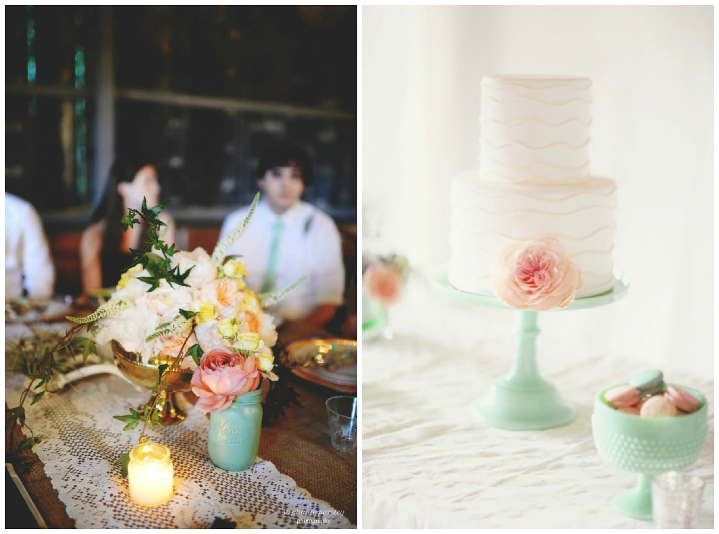 Stephanie Parsley , from  Samantha + Danny 's wedding at The Barn;  Style Me Pretty