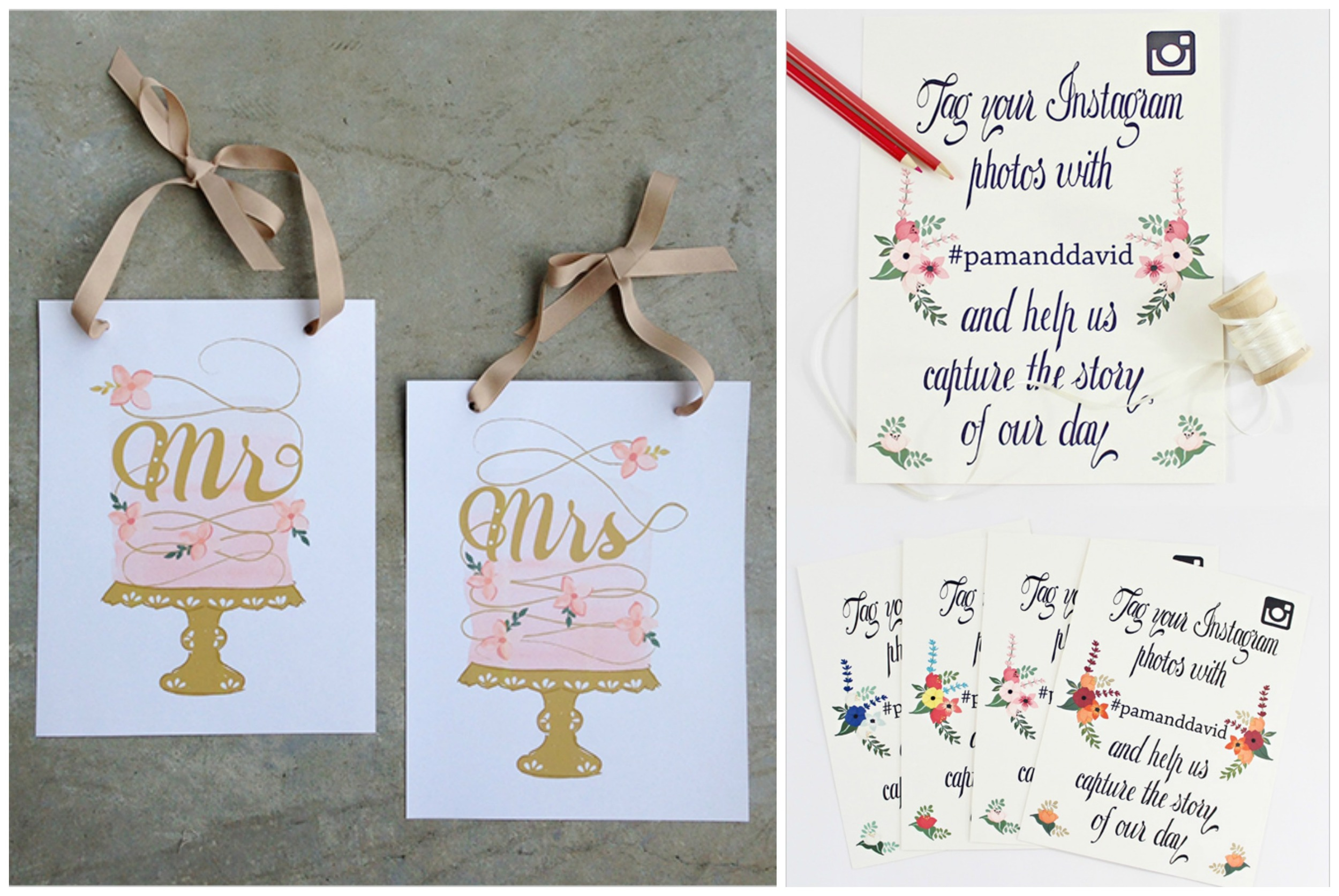 Wedding Chicks  (these printables are free! There are so many cute free printables on this website!)