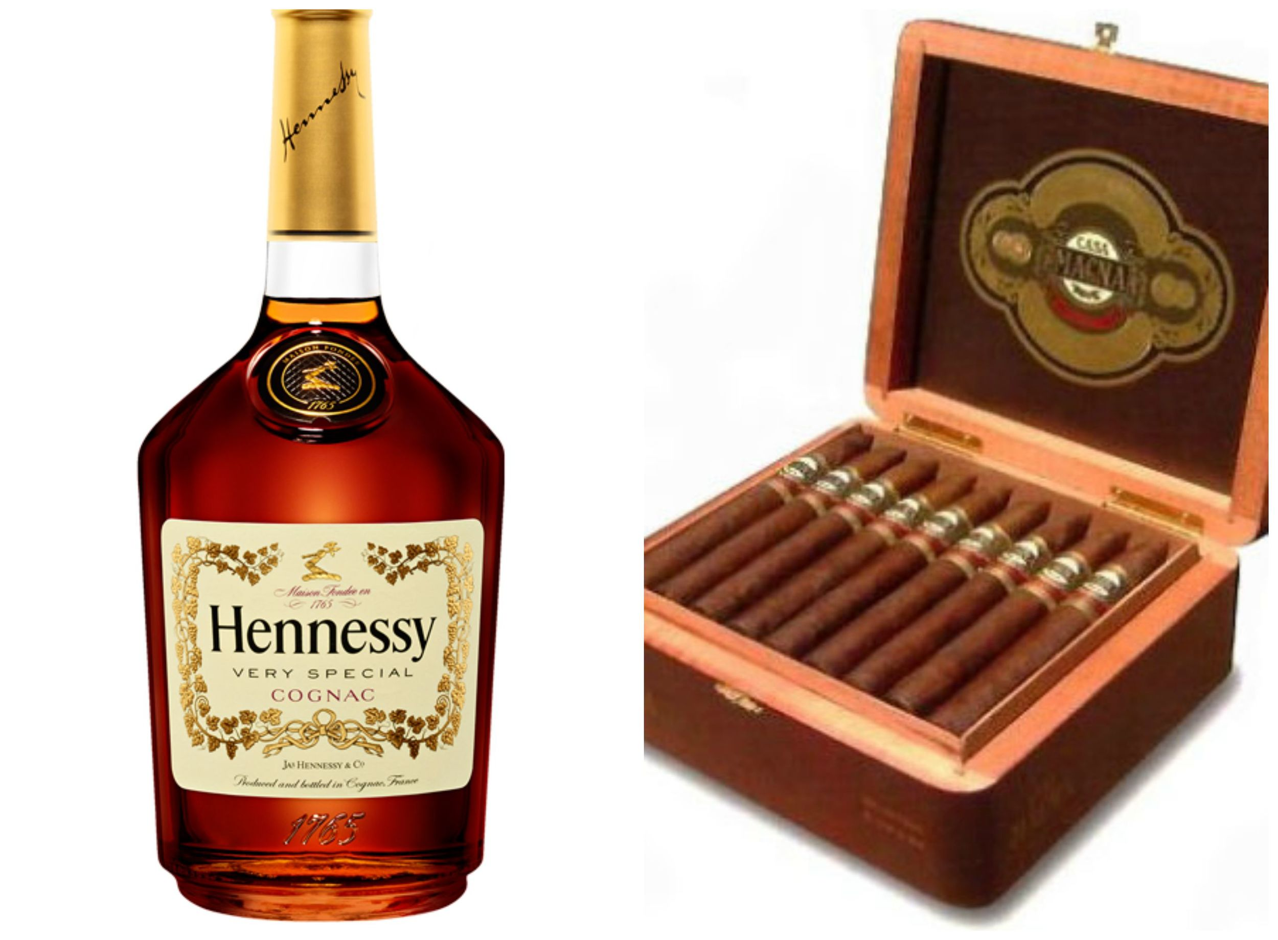 Hennessy ;  Absolute Cigars