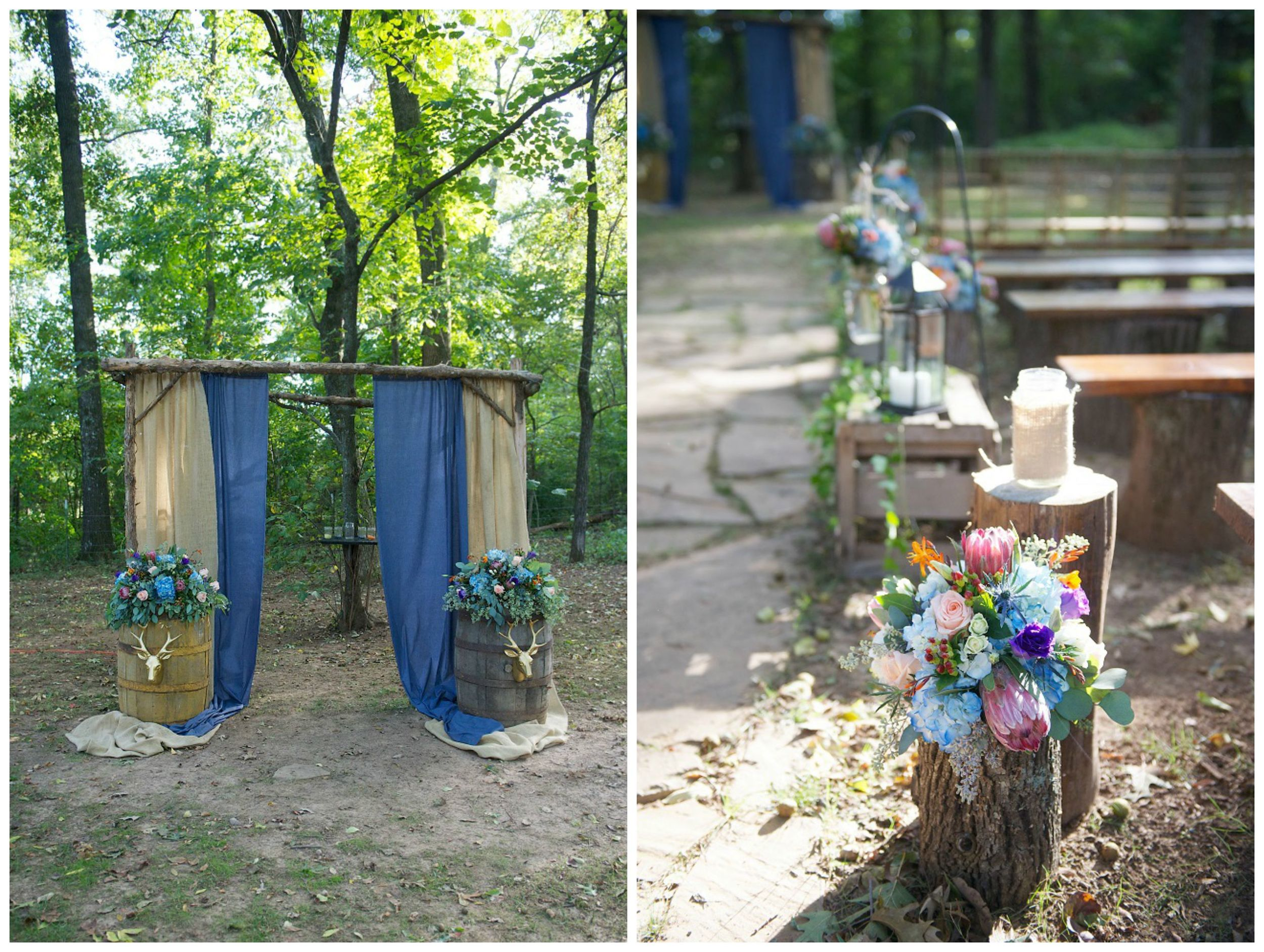 Danielle Davis Art/Photography , from Emily + Blake's wedding at The Barn. Burlap and chambray, barrels, logs and wooden crates... this wedding was perfect for fall, without a super fall-ish color scheme!