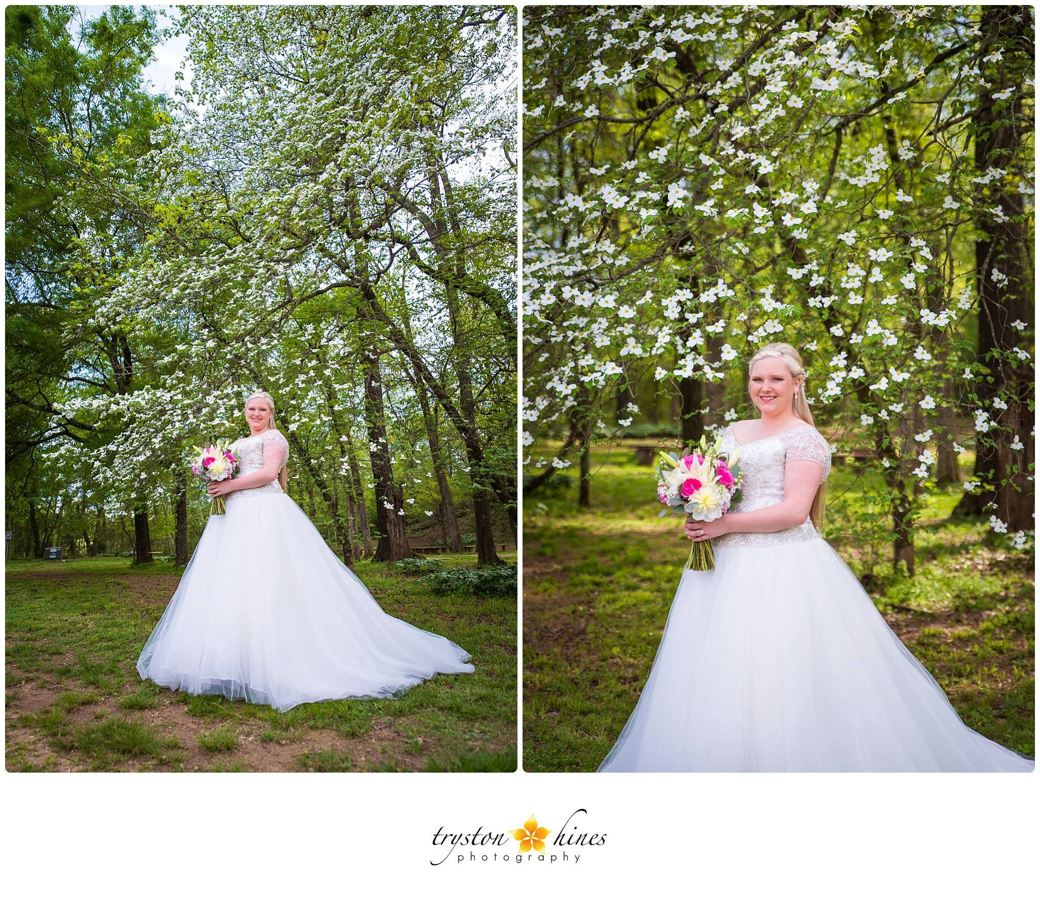 Tryston Hines Photography .  Amber 's springtime bridals were stunning!