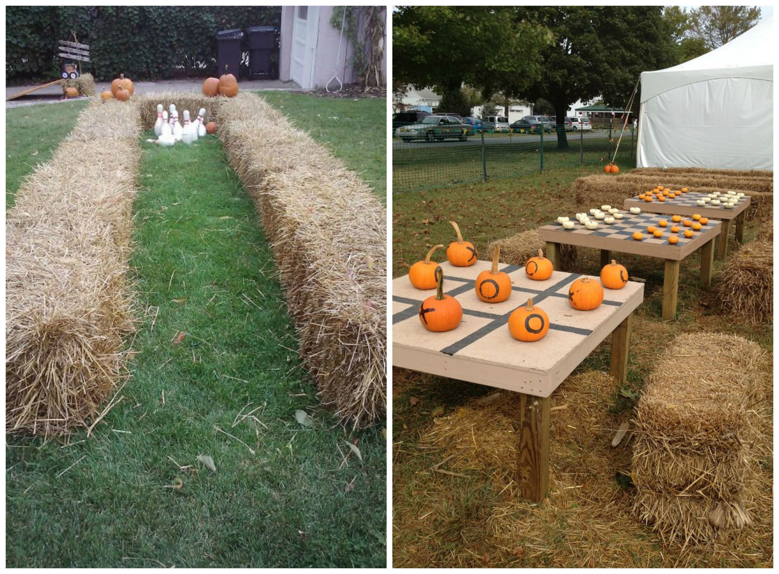 Pinterest ;  Pinterest . Lawn games are always a hit, and if you can figure out a way to involve pumpkins, it'll be even more fun! Ideas I love: pumpkin bowling, pumpkin tic-tac-toe, and pumpkin checkers.
