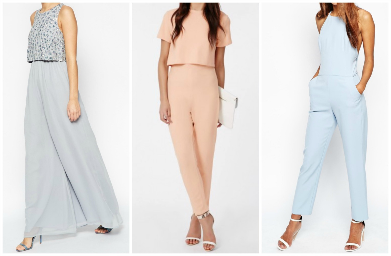 Tell me a wedding party in these pastels would not be OH SO CHIC for a spring wedding. Found at  BeingBridesmaid.