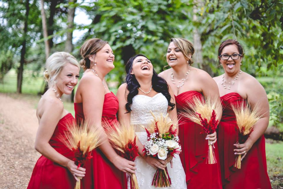 The Kindred Collective , from  Jordon + Nick 's wedding at The Barn. I know I talk about this wedding wayyyy too often, but do you  see those wheat bouquets?!  They were incredible!