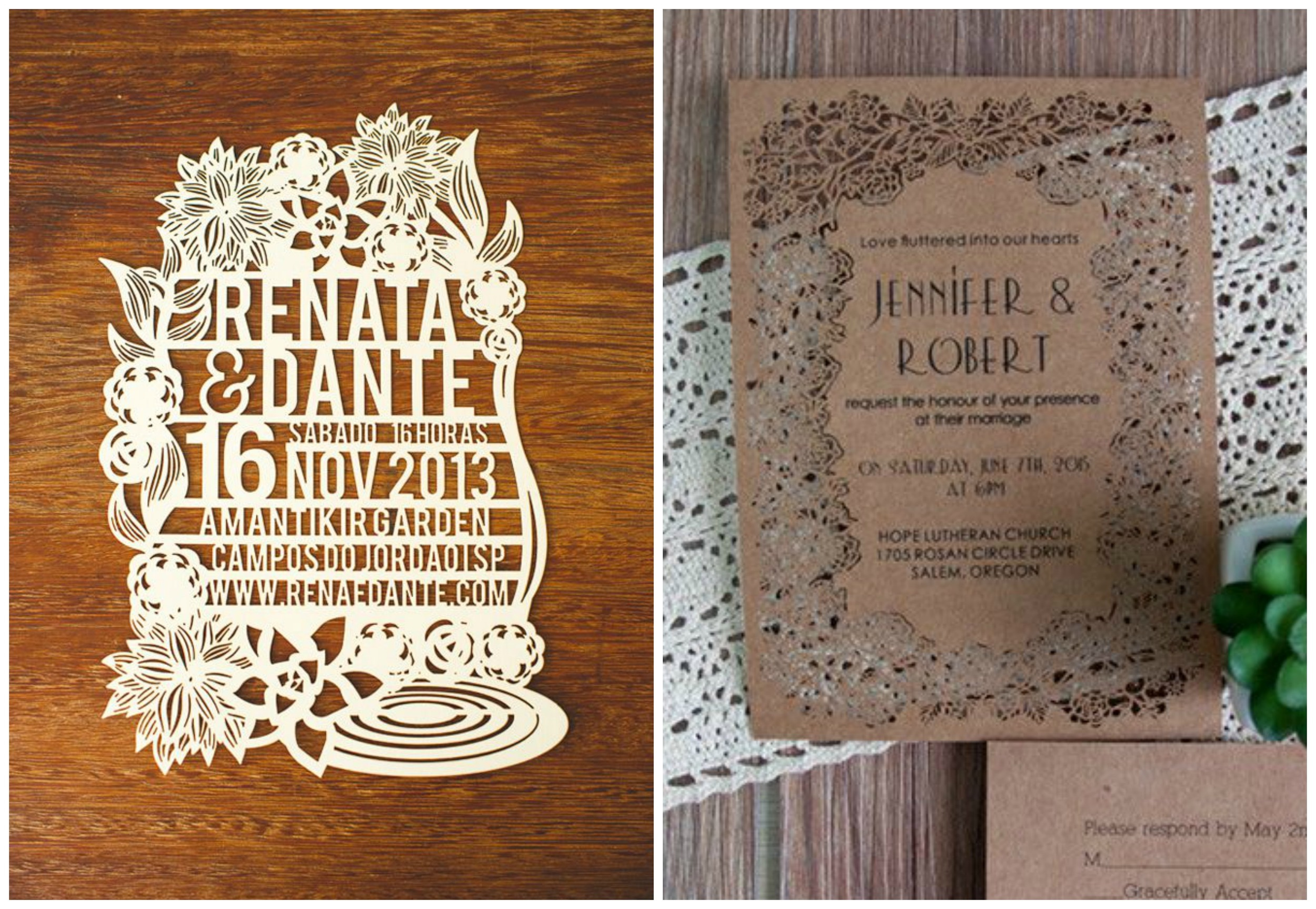 Junebug Weddings ;  Elegant Wedding Invites