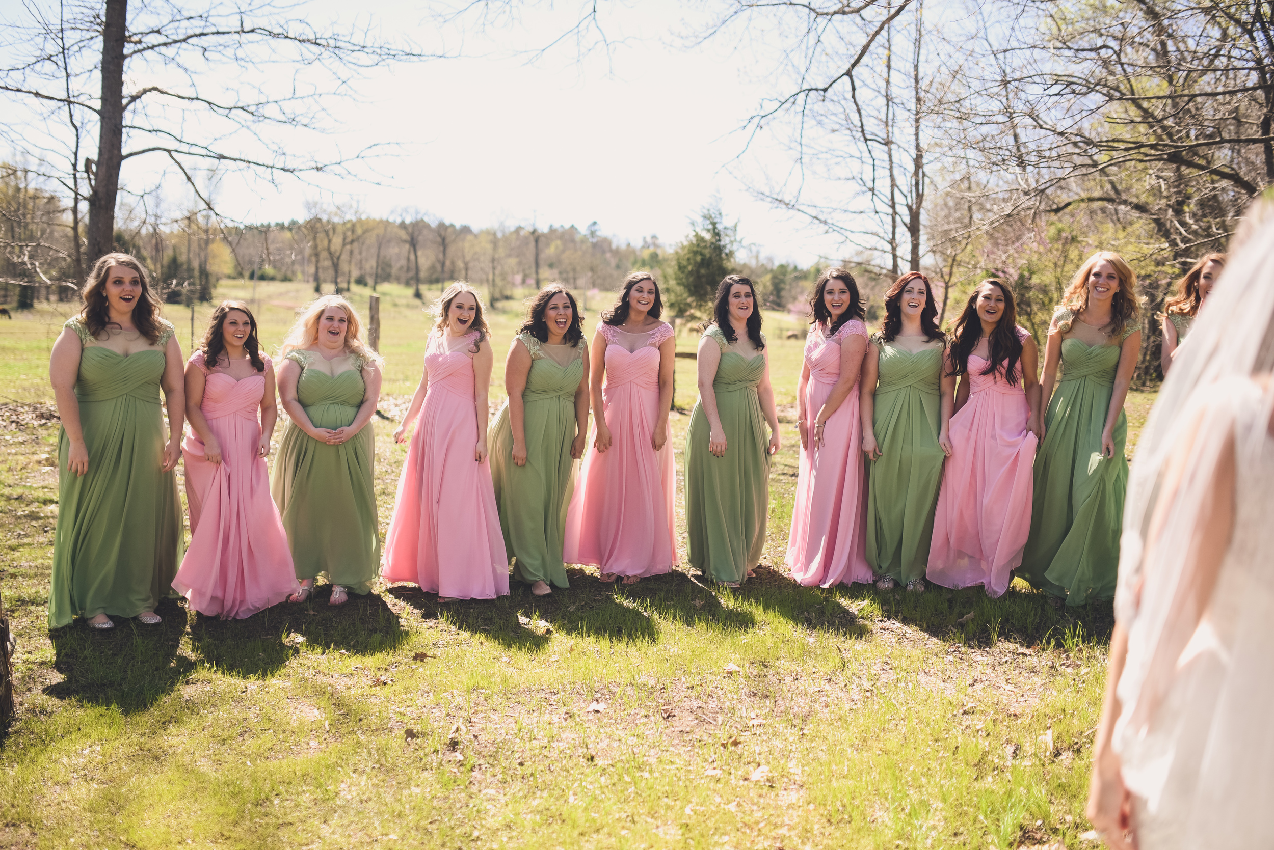 The Kindred Collective , from  Jessica + James ' wedding. A first look with your bridesmaids is a must!