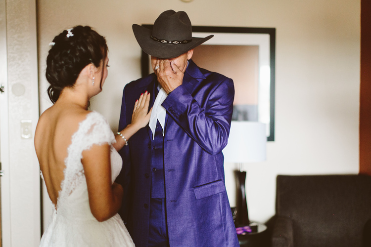 Allison Harp Photography , from  A+J 's wedding. A had a first look with her dad, too. Her beauty completely overwhelmed him! :)