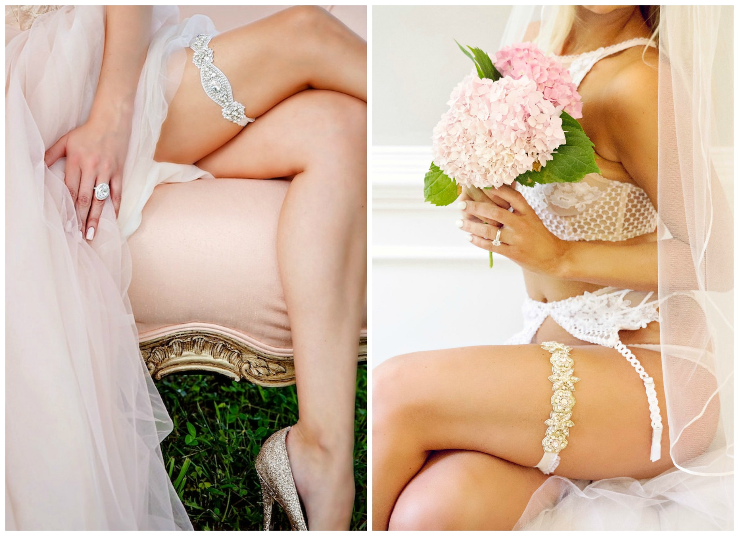 La Gartier Custom Garters . This company makes the most beautiful garters I've ever seen. They're glamorous, and they're not cheap... but you only get married once, right?!