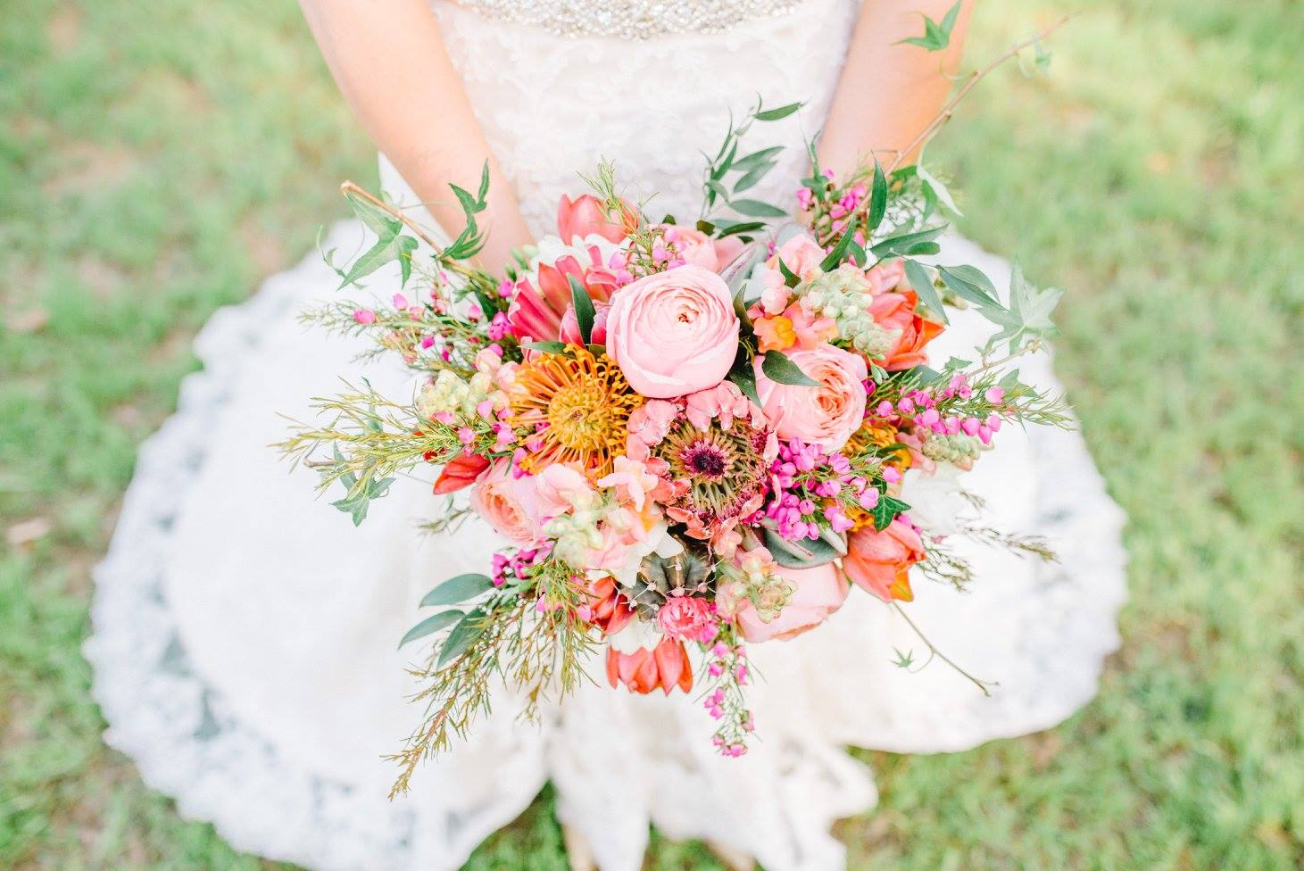 Sterling Imageworks . Lea always loves The Barn's florals, especially bright, colorful ones like  Morgan 's bouquet!