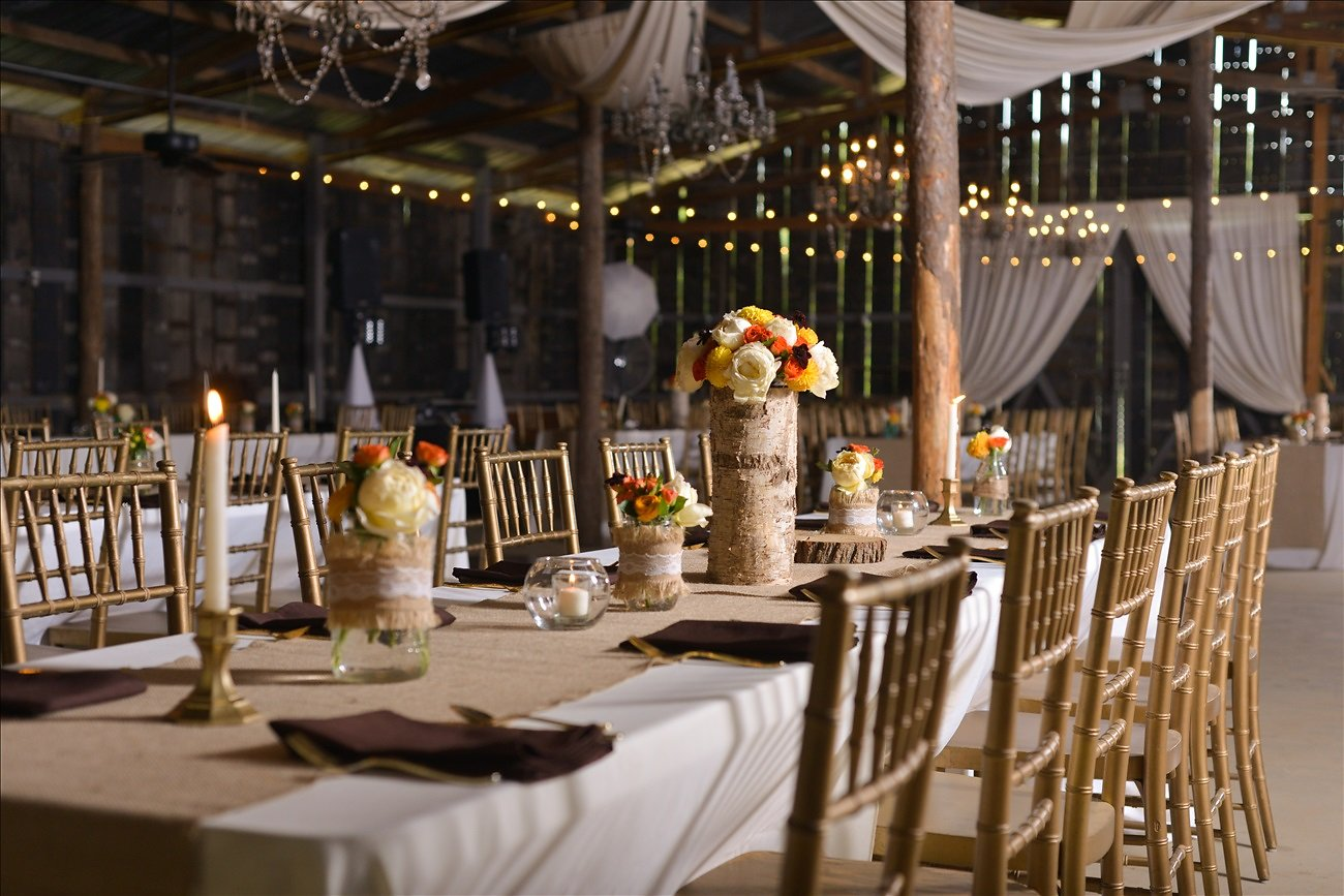 Photos by Manda , from  Leah + Parker 's wedding at The Barn