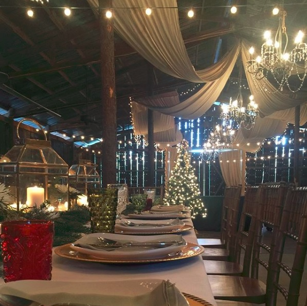 Instagram  photo of a magical Christmas party at The Barn