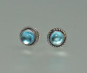 Gemstone Button Earrings - great for every day wear