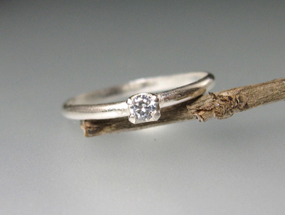 Starlight Ring with White Topaz