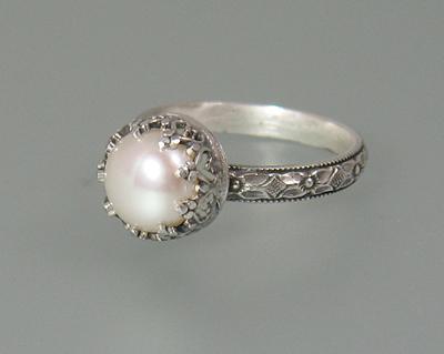 Edwardian Pearl Engagement Ring