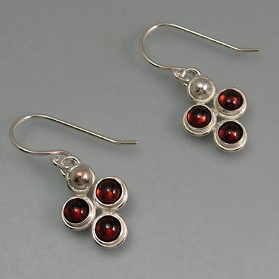 Garnet Cluster Earrings
