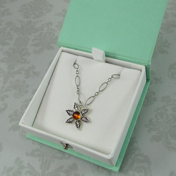 Modern Sunflower Necklace