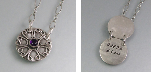 "Carpe Diem ""Seize the Day"" Secret Message Poesy Locket Necklace"