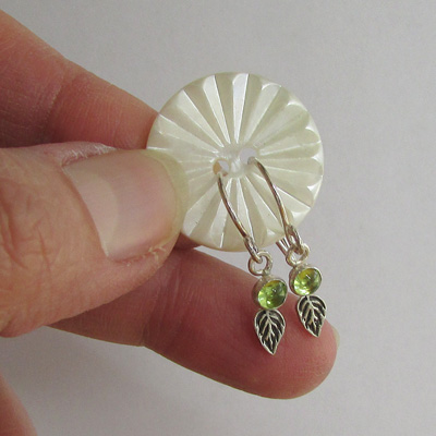 Keep your earrings together with an old button