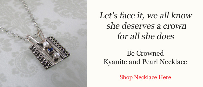 Be Crowned Kyanite and Pearl Necklace