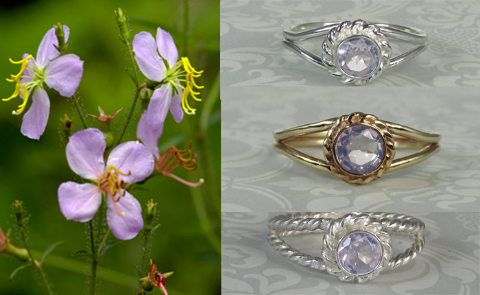 diamond alternative non-traditional lavender moon quartz engagement rings