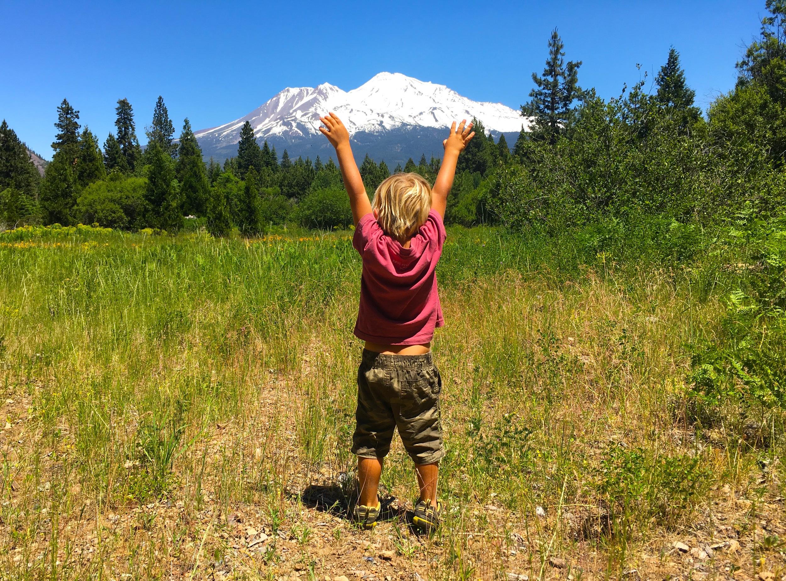 Raphael with Mount Shasta