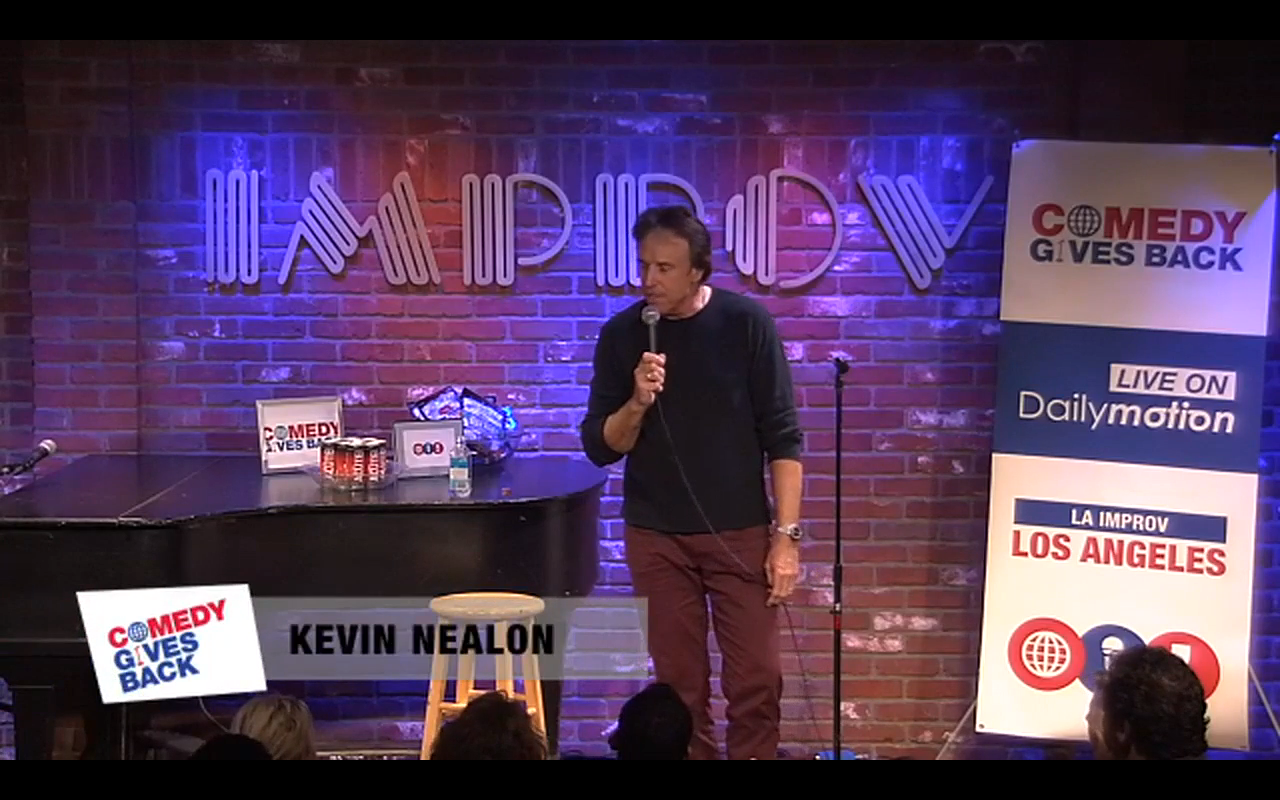 Integration of brands on main stage with Kevin Nealon