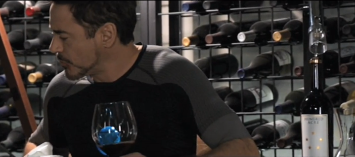 Hundred Acre wine in Tony Stark's private cellar in  Iron Man 3