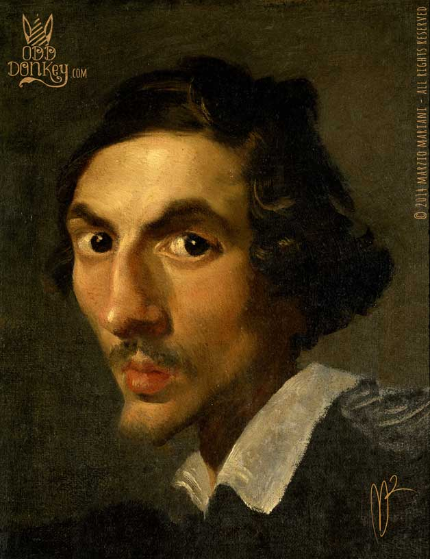 Caricature of Gianlorenzo Bernini by Marzio Mariani