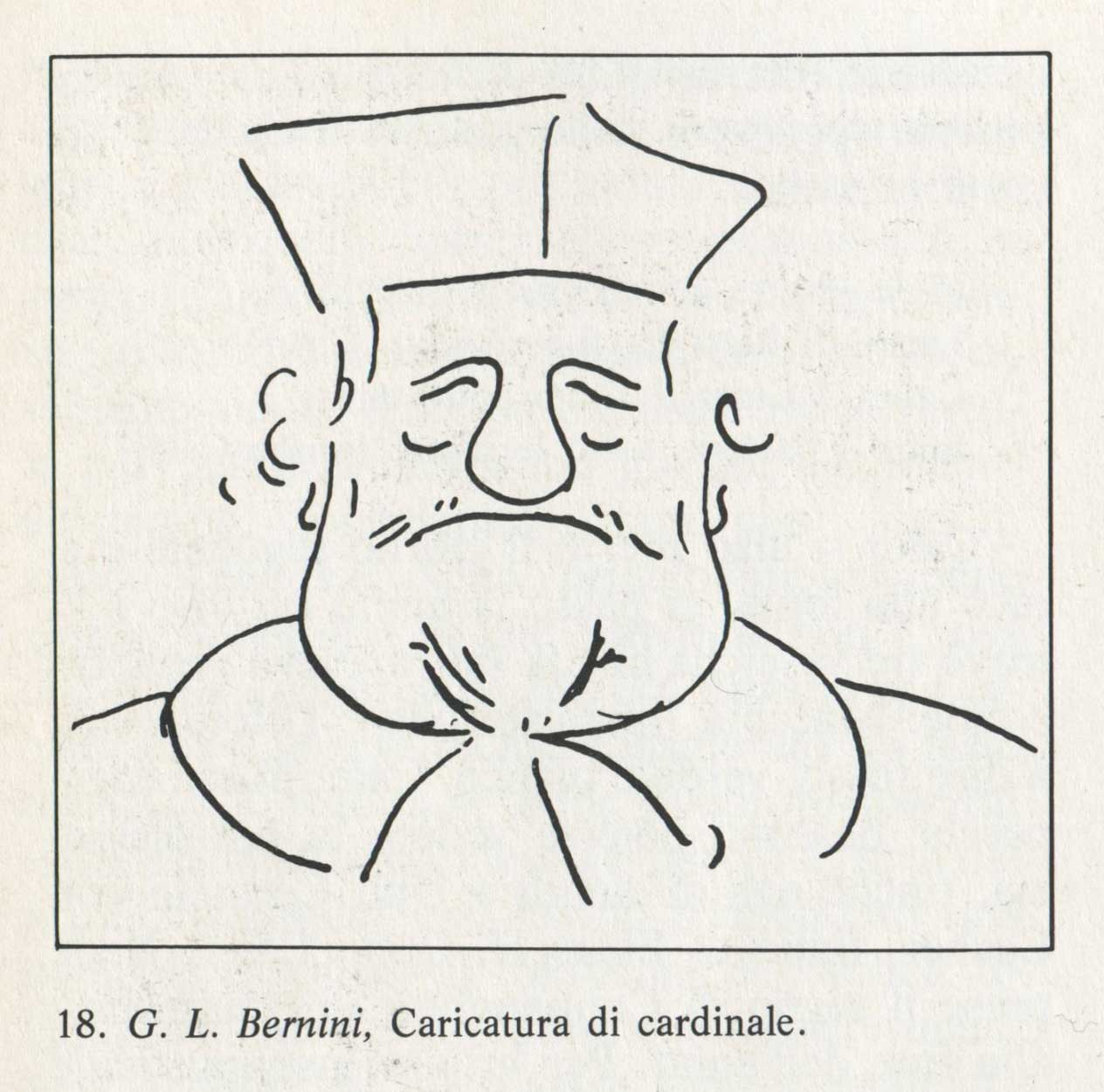 Caricature of Cardinal Borghese