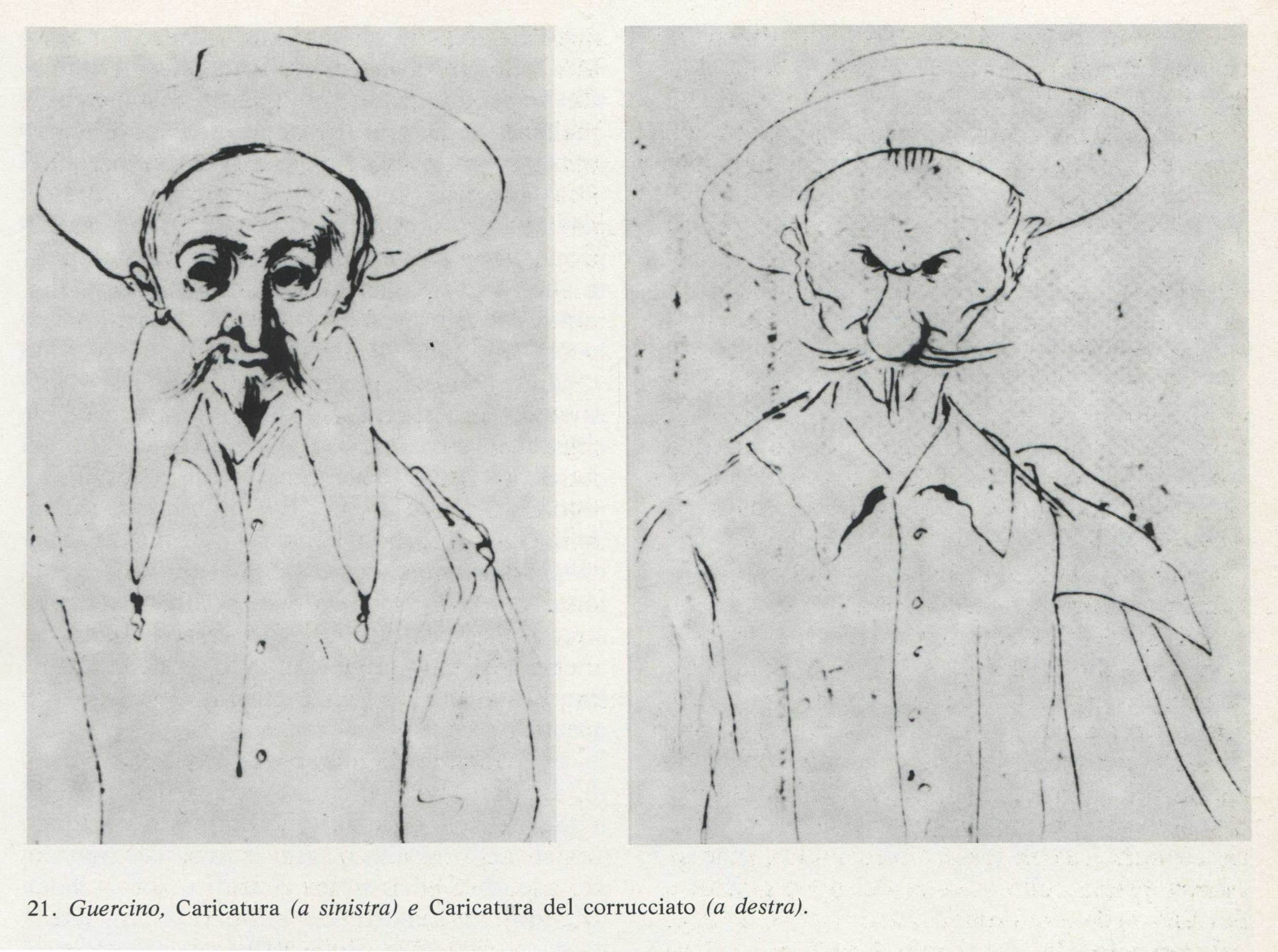 Caricature of the corrucciato