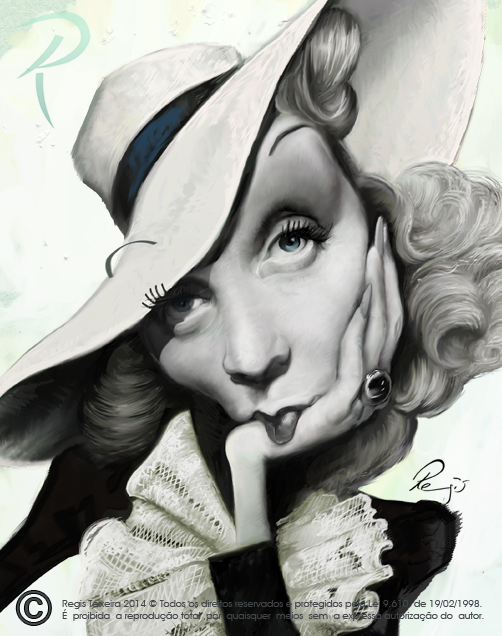 Marlene Dietrich by Regis Teixeira (All Rights Reserved)