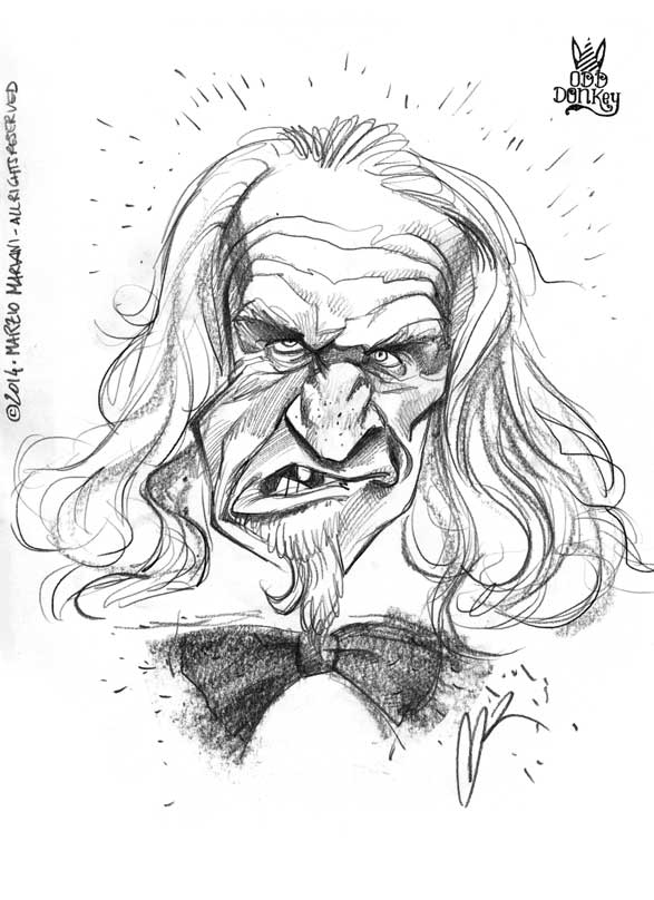 Caricature by Marzio Mariani (All Rights Reserved)