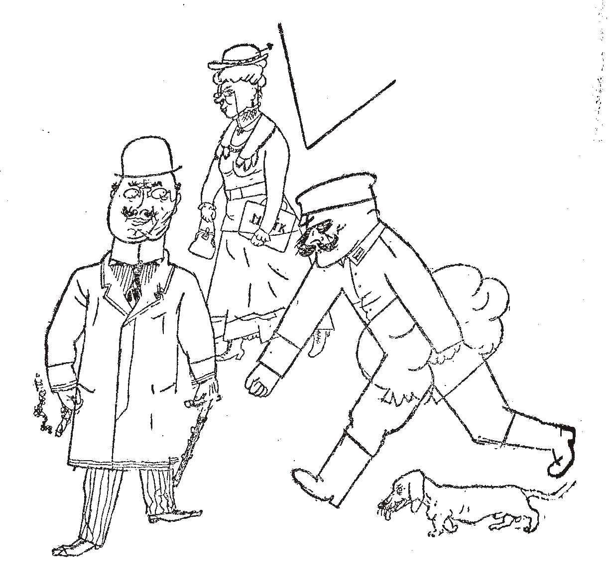 Caricatura di George Grosz