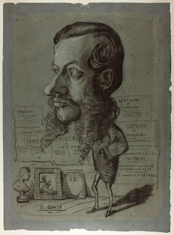 Caricature of Léon Manchon - Claude Monet