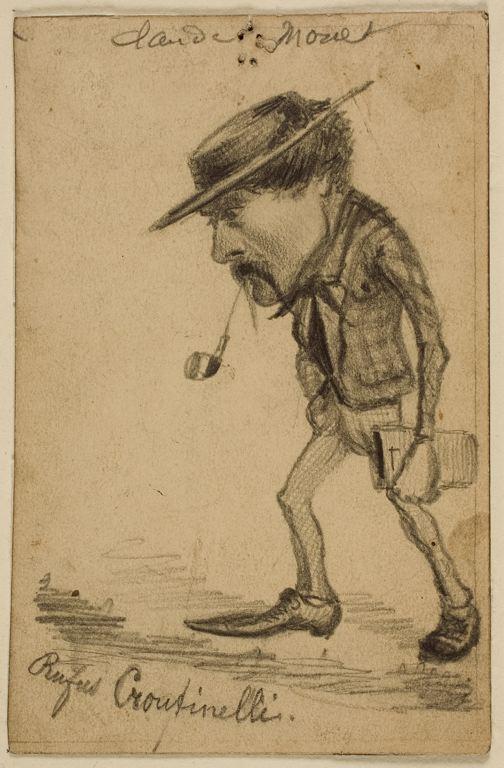 Caricature of Henri Cassinelli, Rufus Croutinelli - Claude Monet
