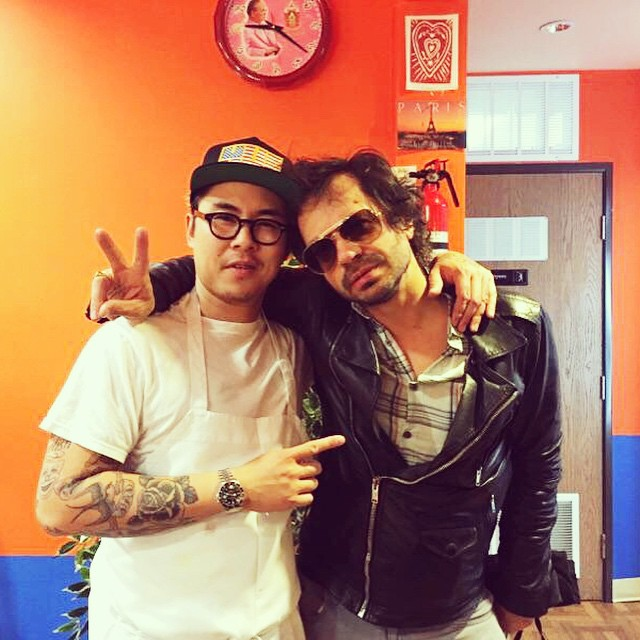Our homie, the famed marriage counselor, Olivier Zahm @ozpurple stopped by for larb and to bless me with some relationship advice. @purplefashionmagazine