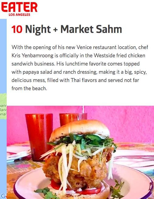night market fried chicken sandwich