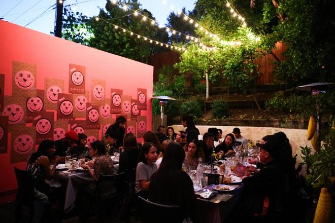 night market patio party
