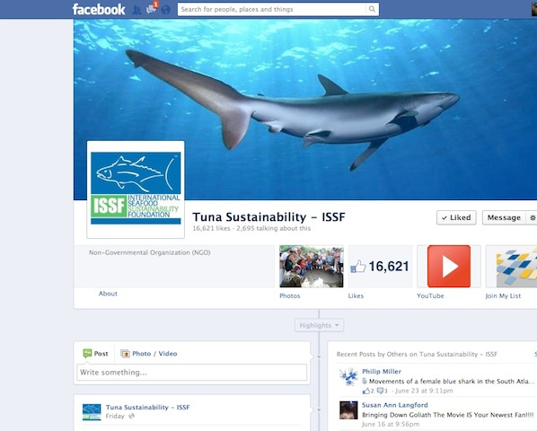 ISSF Facebook Page:  facebook.com/TunaSustainability